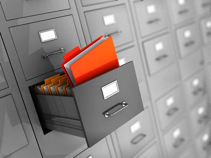 document steel storage