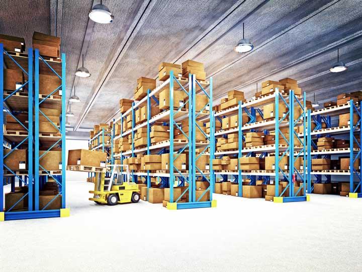 warehouse merchandise storage