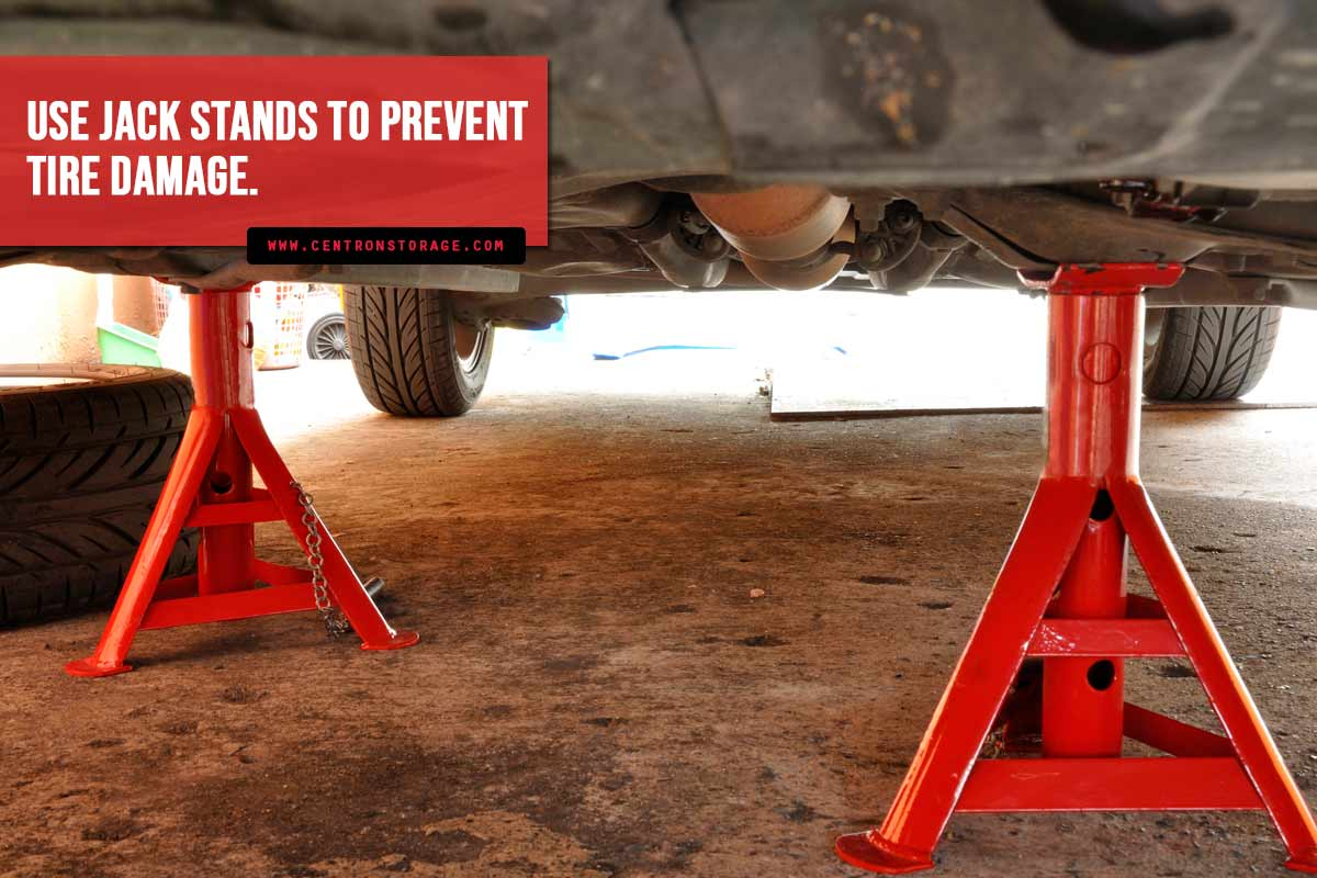 Use-jack-stands-to-prevent-tire-damage