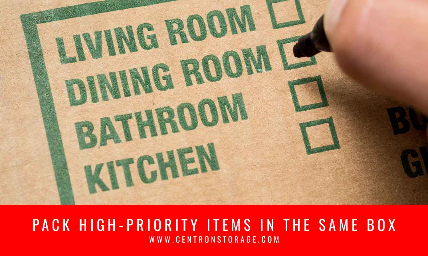 Pack high-priority items in the same box