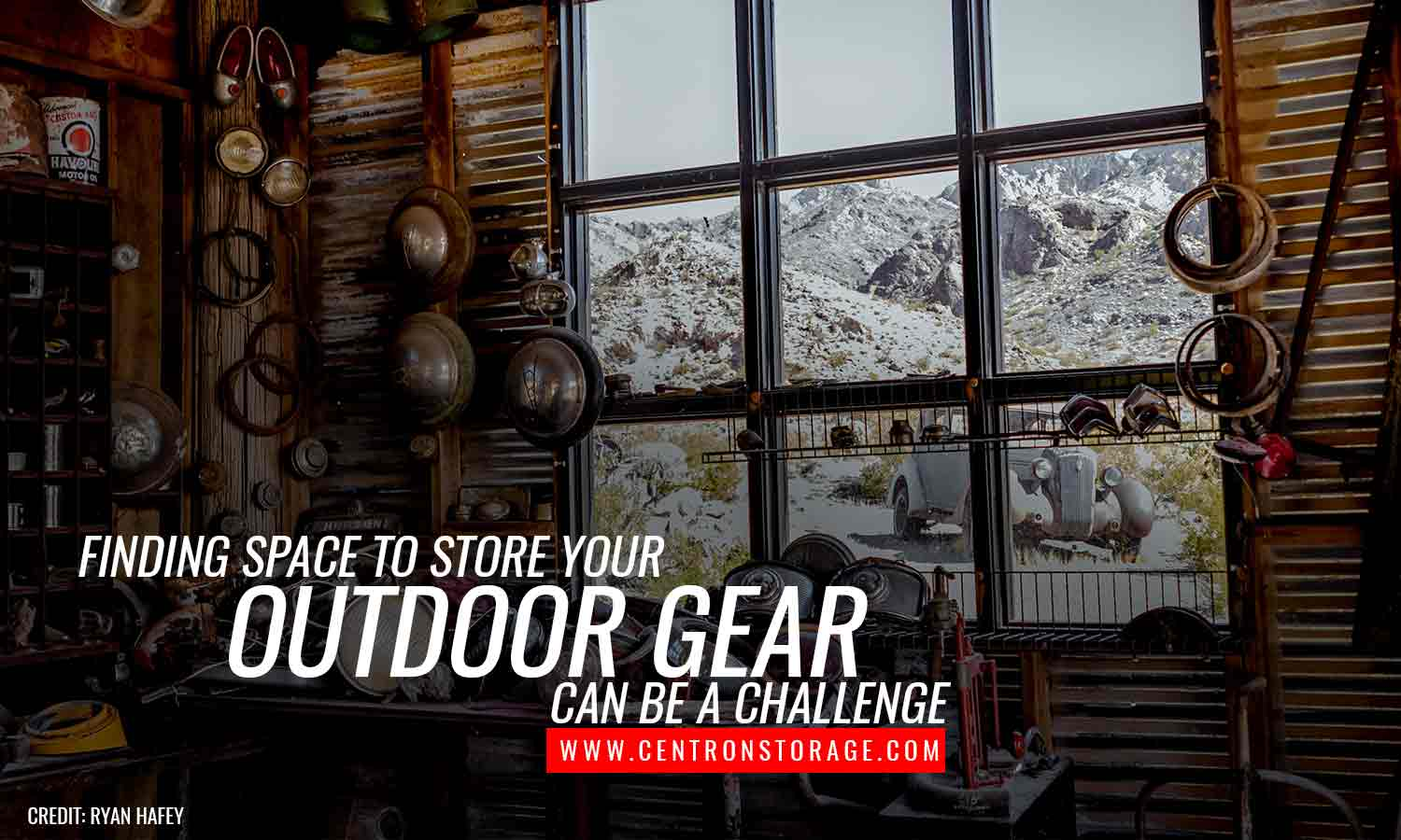 Finding space to store your outdoor gear can be a challenge