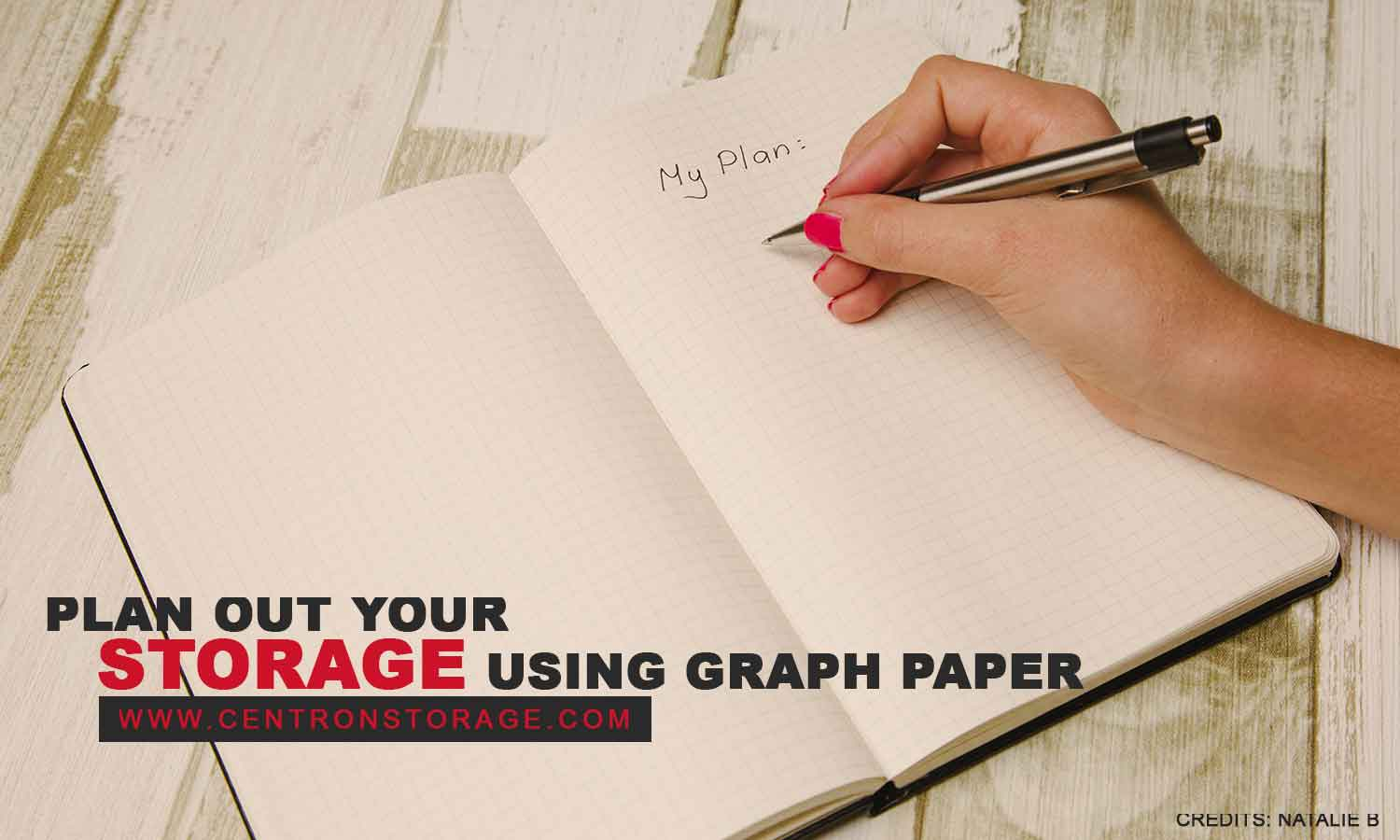 Plan out your storage using graph paper