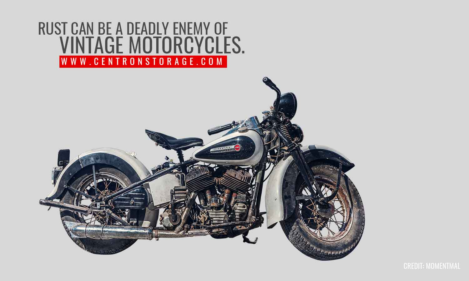 Rust can be a deadly enemy of vintage motorcycles.