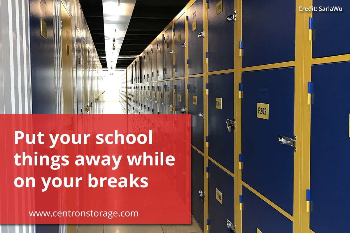 Put your school things away while on your breaks
