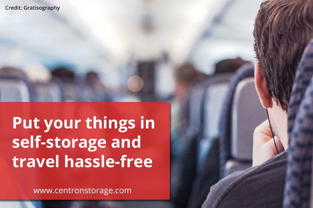 Put your things in self-storage and travel hassle-free