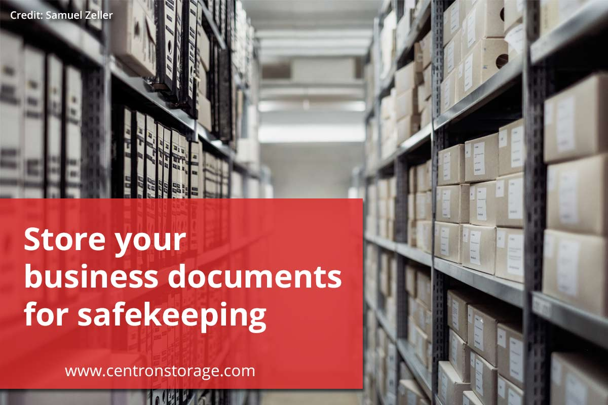 Store your business documents for safekeeping