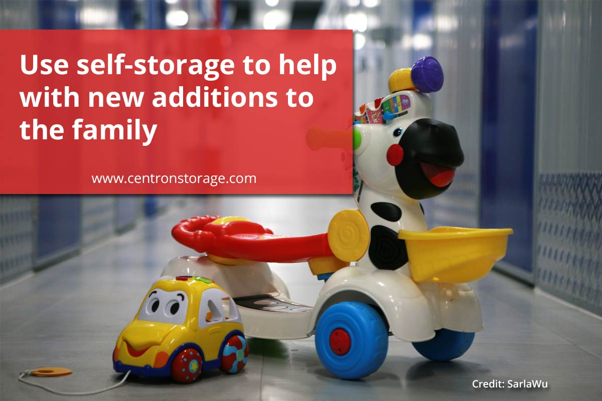 Use self-storage to help with new additions to the family