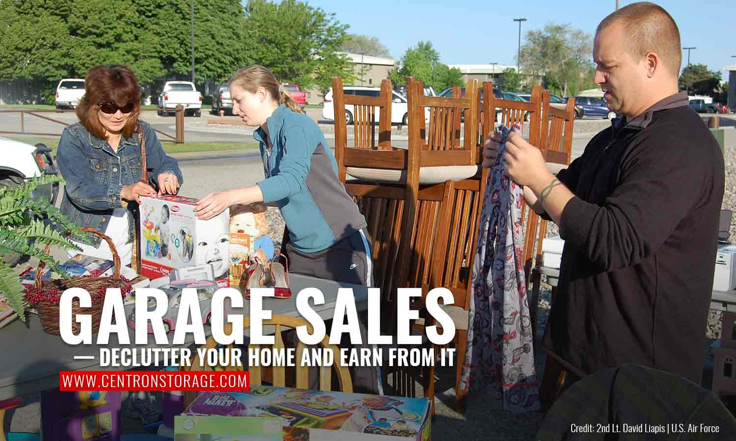 Garage sales — declutter your home and earn from it