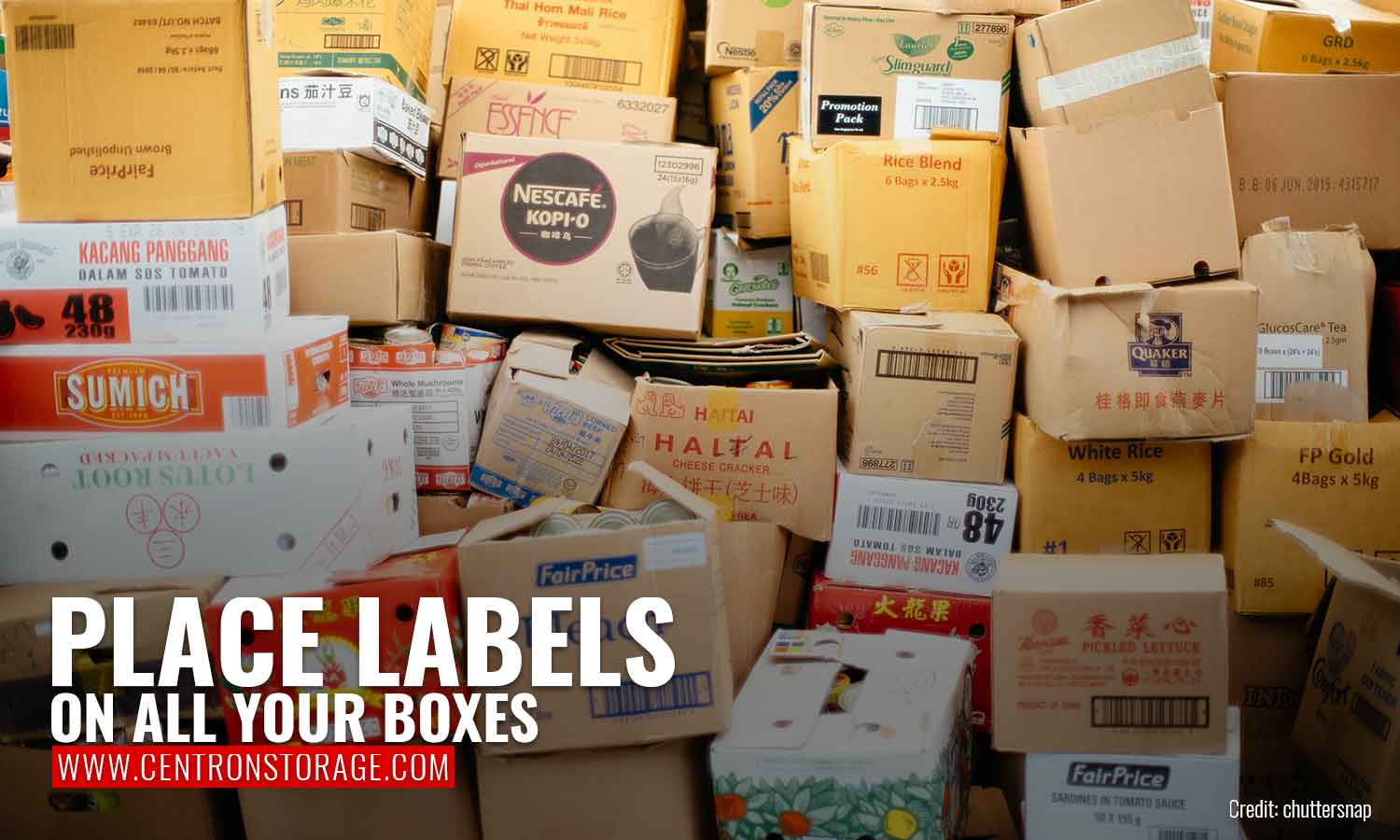 Place labels on all your boxes