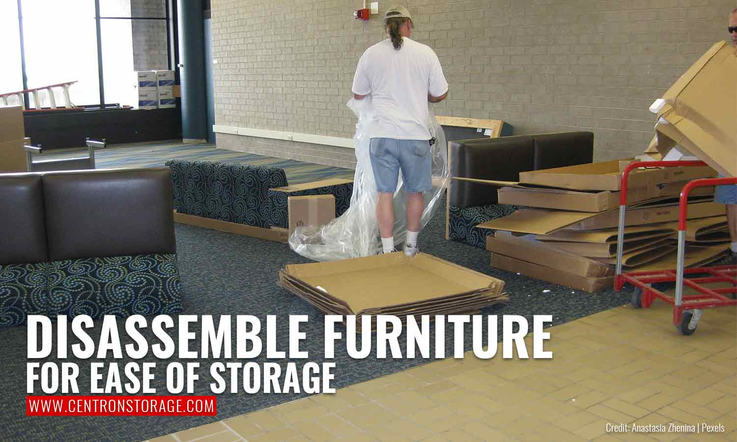 Disassemble furniture for ease of storage