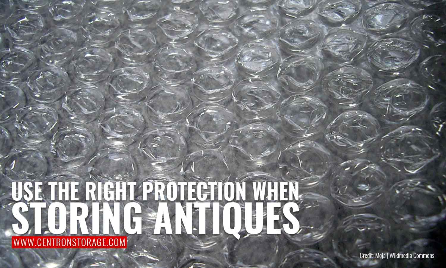 Use the right protection when storing antiques