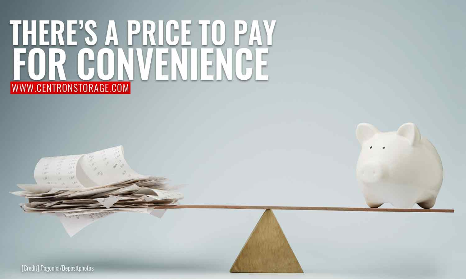 There's a price to pay for convenience