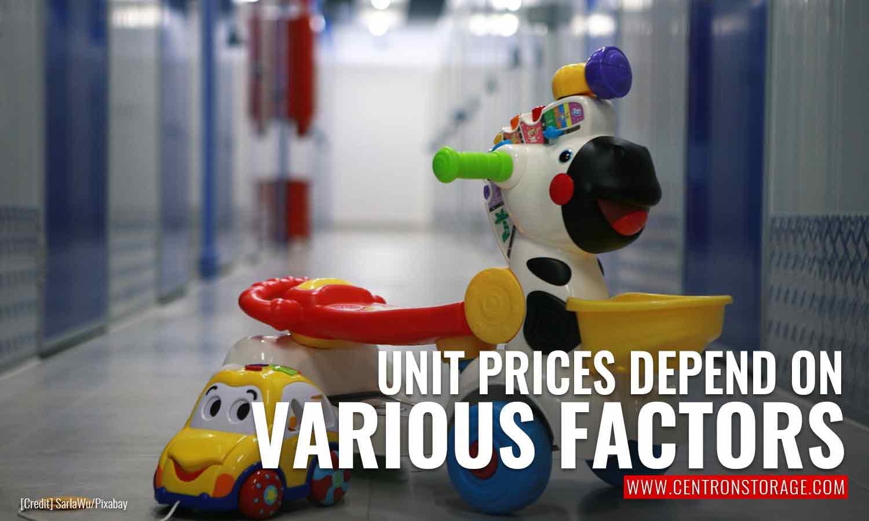 Unit prices depend on various factors
