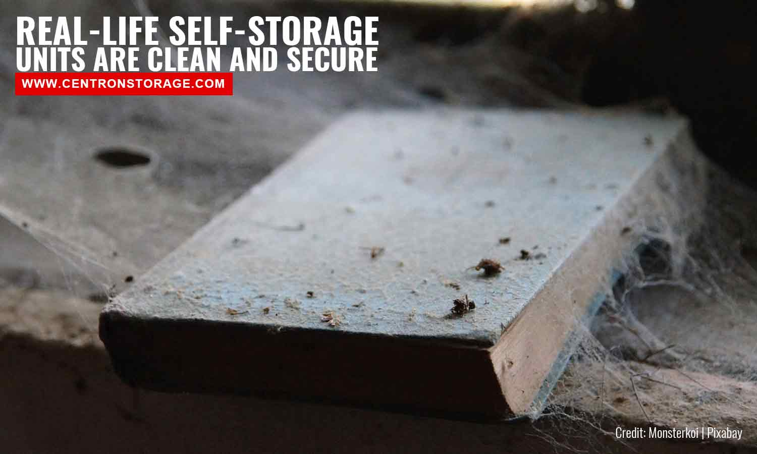 Real-life self-storage units are clean and secure