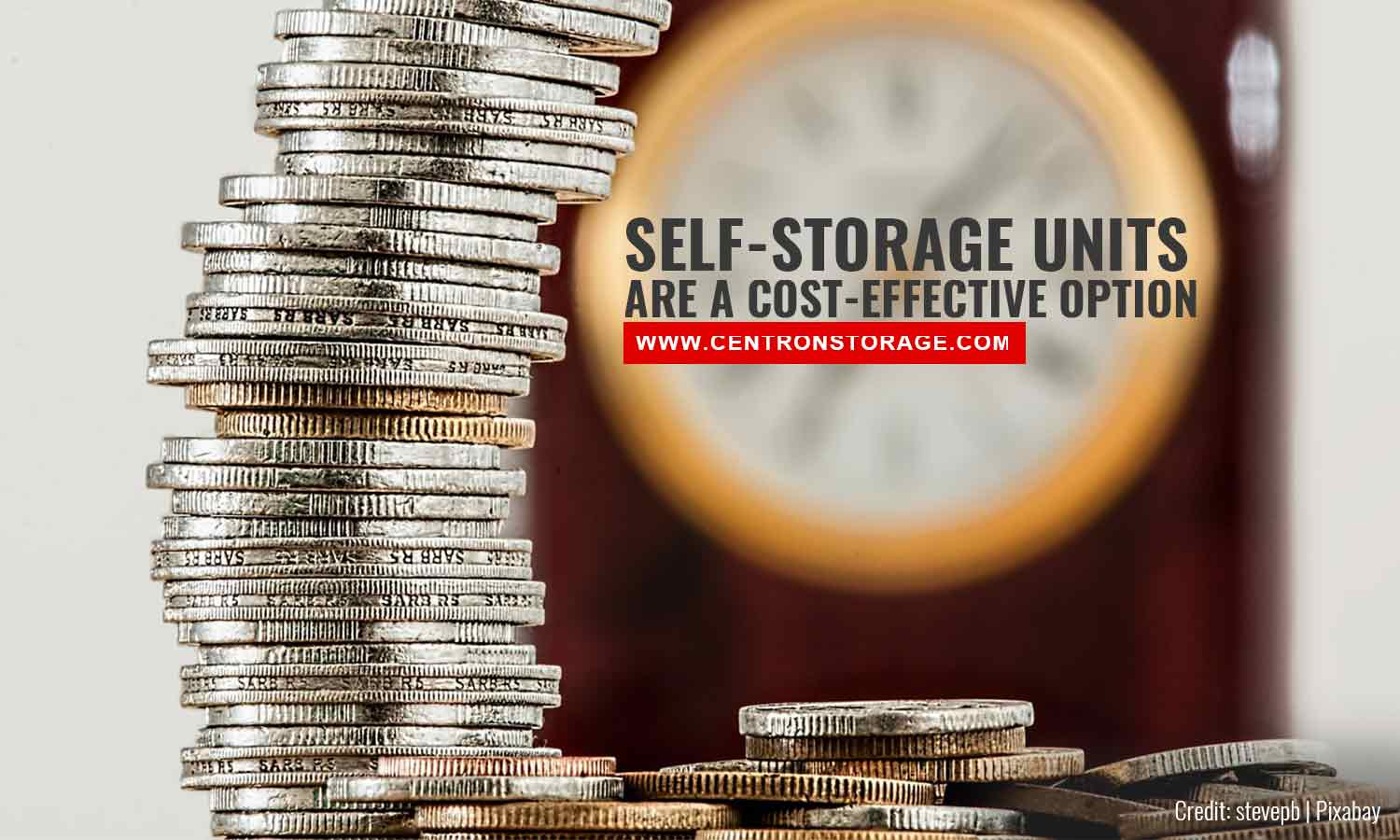 Self-storage units are a cost-effective option