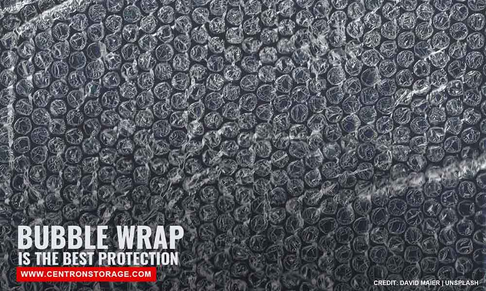Bubble wrap is the best protection
