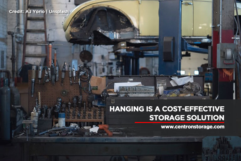 Hanging is a cost-effective storage solution