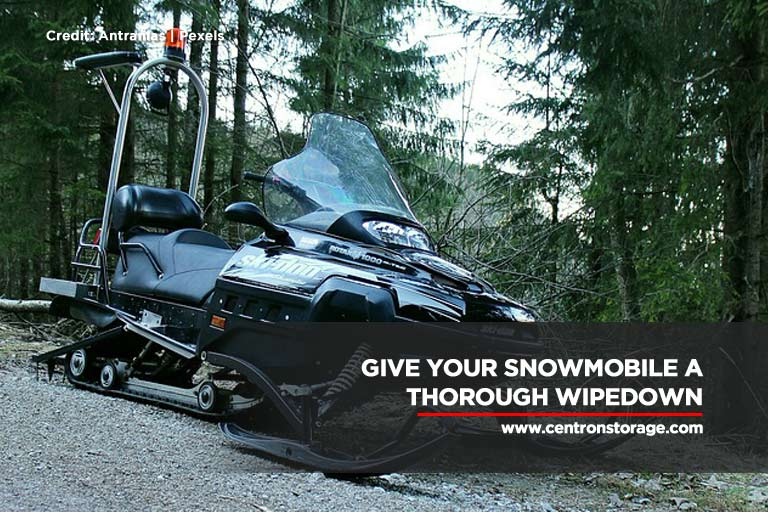 Give your snowmobile a thorough wipedown