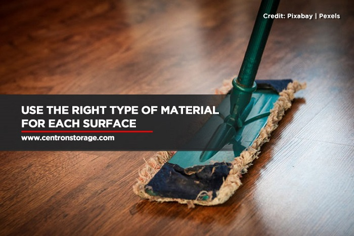 Use the right type of material for each surface