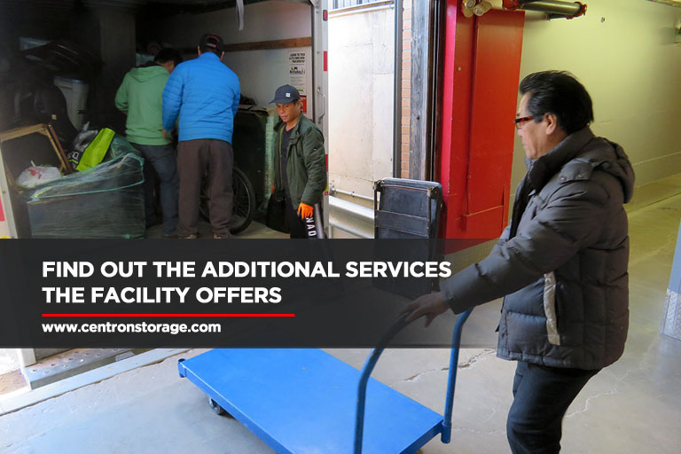 Find out the additional services the facility offers