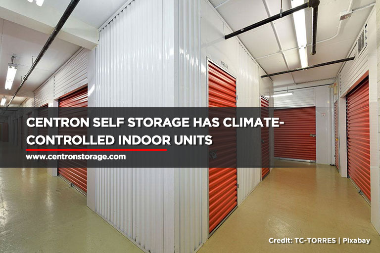 Centron Self Storage has climate-controlled indoor units
