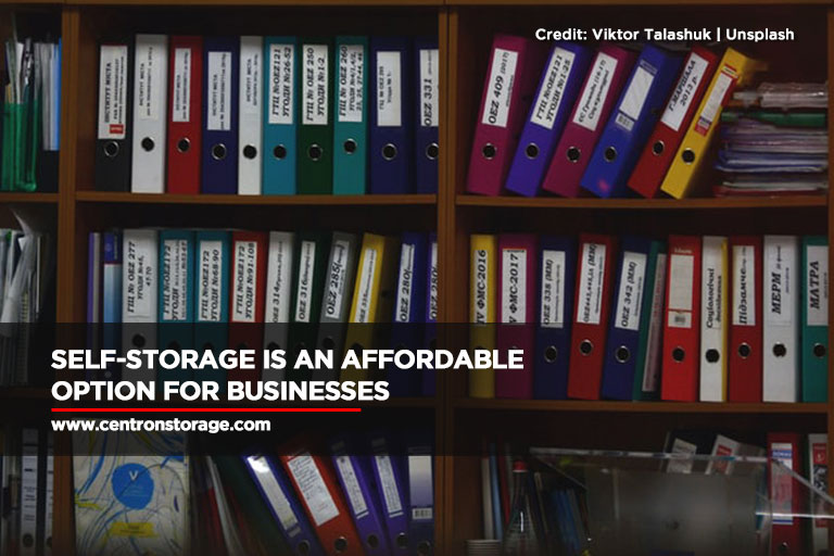 Self-storage is an affordable option for businesses